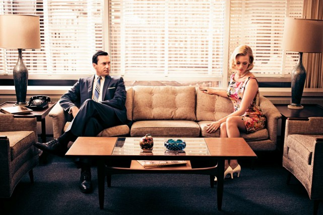 La série Mad Men a suscité un réel... (Photo AMC)