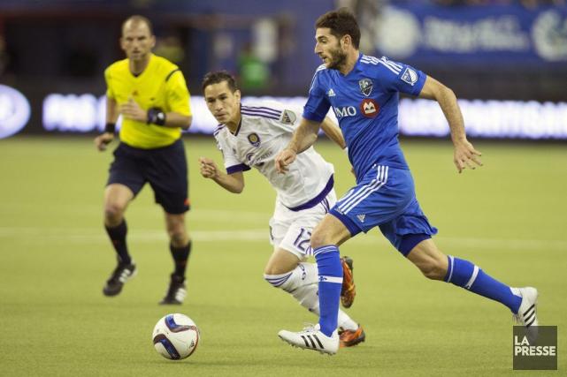 Ignacio Piatti a marquésur un penalty à la... (Photo Robert Skinner, La Presse)