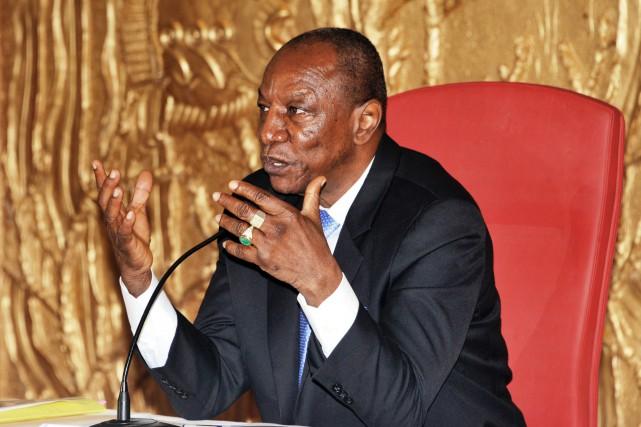 Le président guinéen Alpha Condé... (PHOTO CELLOU BINANI, ARCHIVES AFP)