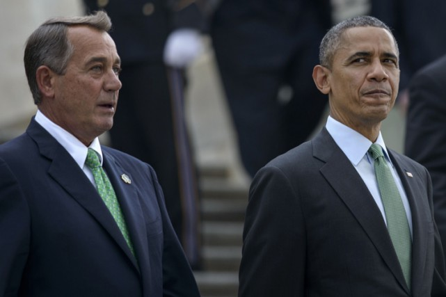 John Boehner et Barack Obama.... (Archives AFP)