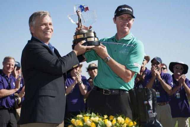 Le Texan Jimmy Walker a remporté l'Omnium du Texas et il est devenu dimanche le... (Photo: AP)