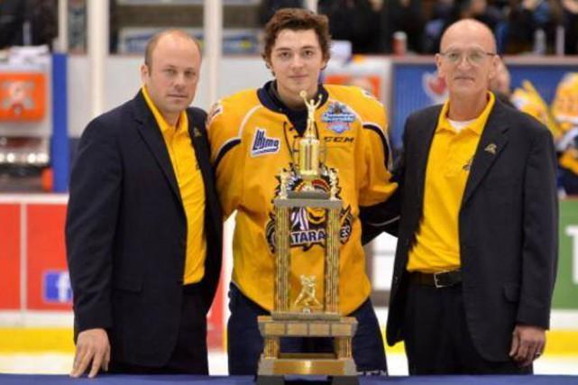Samuel Girard des Cataractes a remporté le trophée... (Photo: Cataractes de Shawinigan)