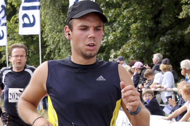 Andreas Lubitz lors d'une course à Hambourg en... (PHOTO ARCHIVES AP)