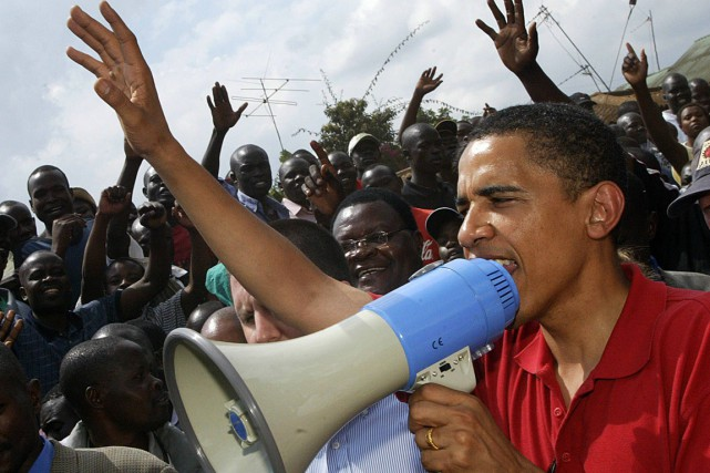 M. Obama s'est rendu au Kenya en 2006 en... (PHOTO TONY KARUMBA, ARCHIVES AFP)