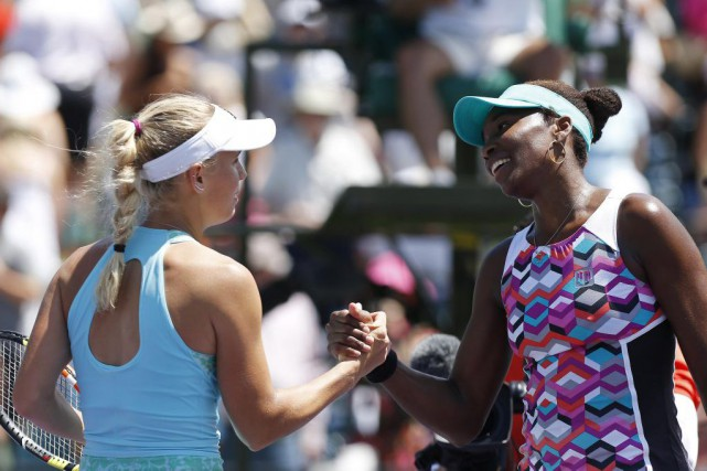 Caroline Wozniacki et Venus Williams... (PHOTO GEOFF BURKE, USA TODAY)