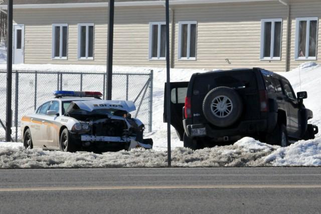 Éric Ferland a provoqué des collisions avec au... (Photo collaboration spéciale Éric Beaupré)