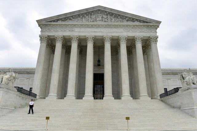 L'entrée de laCour suprême des États-Unis à Washington.... (Photo: AP)