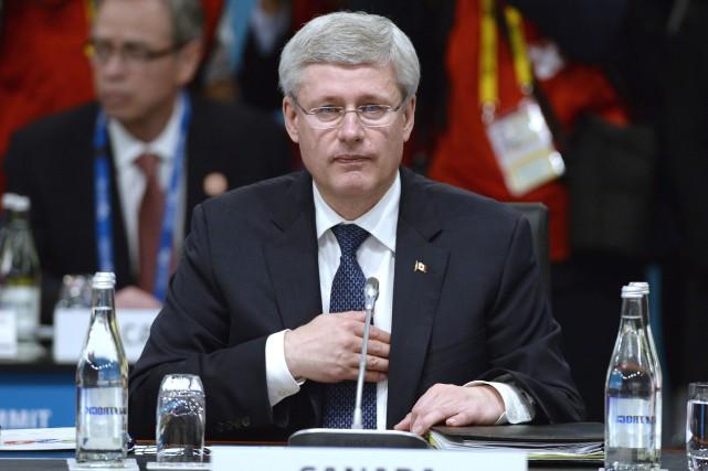 Le premier ministre Stephen Harper au G20, à... (La Presse Canadienne)