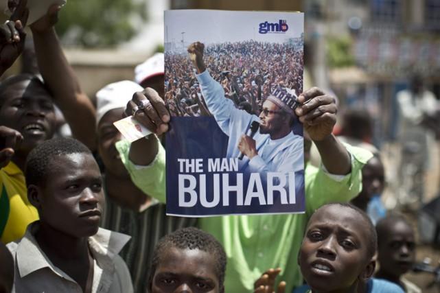 Selon les premiers résultats officiels, l'ancien général MuhammaduBuhari... (Photo: AFP)