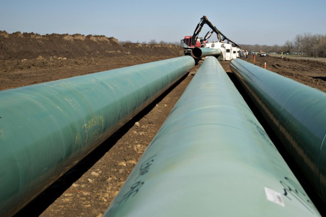 Le passage du pipeline sera frappé par la... (Photo archives Bloomberg)