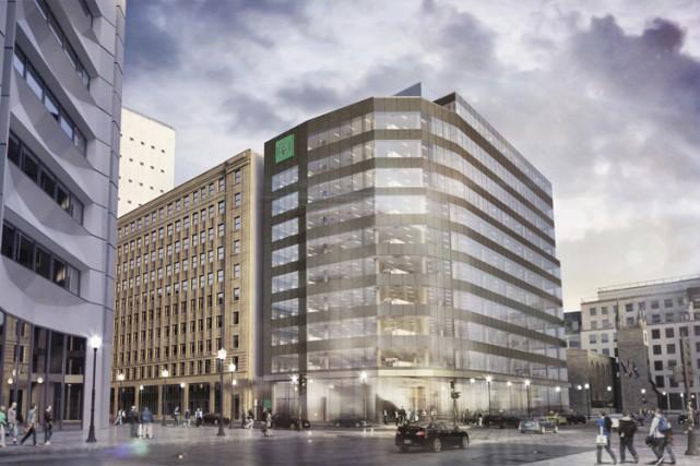 Le bâtiment sera situé à l'angle du boulevard... (ILLUSTRATION FOURNIE PAR DESJARDINS)