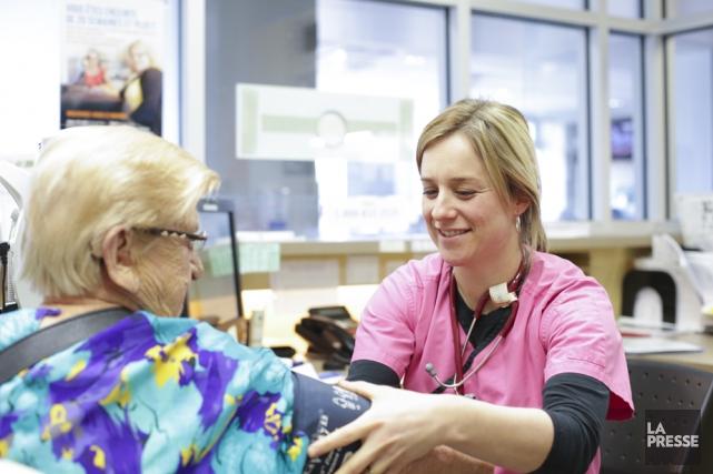 Les infirmières responsables de la première évaluation clinique...