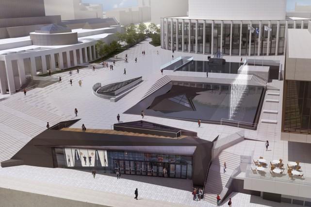 La nouvelle esplanade de la Place des Arts... (Photo: fournie par la Place des Arts)