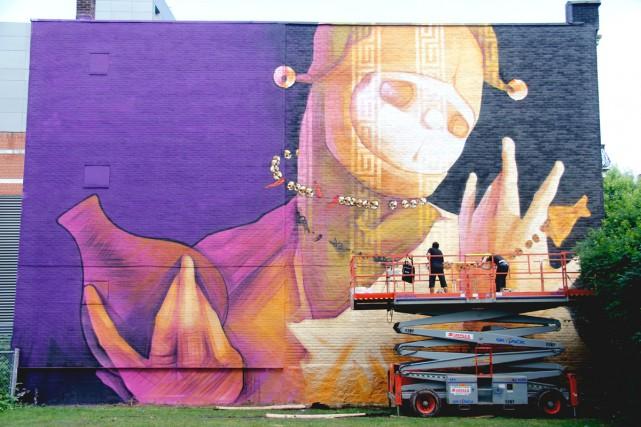 Murale de l'artiste chilien Inti créée l'an dernier... (Photo: fournie par le festival)