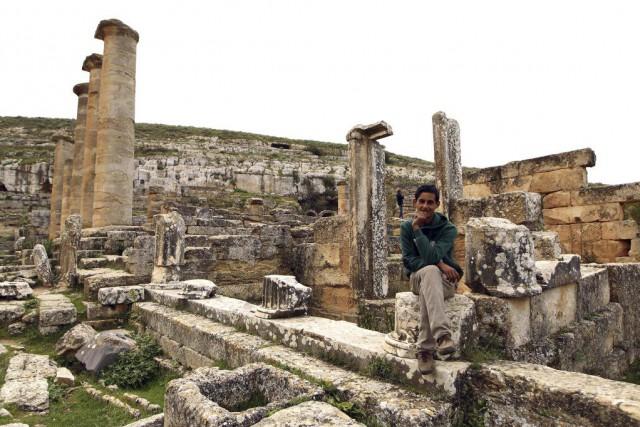 Cyrène (sur la photo), surnommée «l'Athènes d'Afrique» et... (PHOTO ABDULLAH DOMA, AFP)