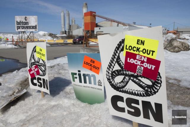 Le lock-out est terminé chez Béton Provincial.... (Photo: Stéphane Lessard, Le Nouvelliste)