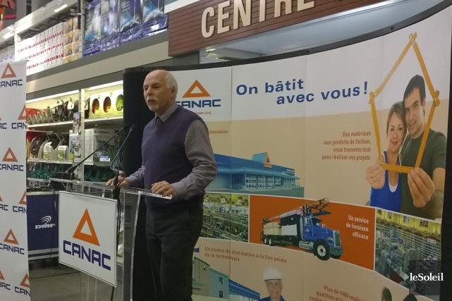 Le président du Groupe Canac, Jean Laberge... (Le Soleil, Yves Therrien)