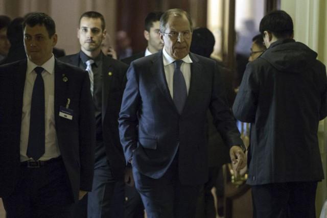 Le chef de la diplomatie russe Sergueï Lavrov... (PHOTO BRENDAN SMIALOWSKI, AFP)