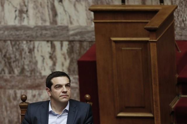 Le premier ministre grecAlexis Tsipras... (PHOTO PETROS GIANNAKOURIS, AP)