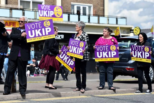 Le parti UKIP est réputé pour ses positions... (Photo: AFP)