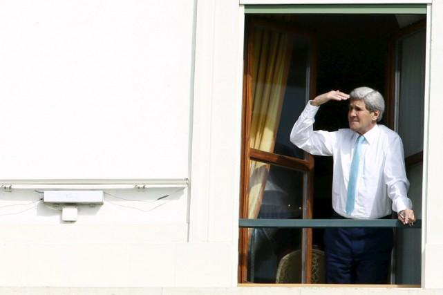 Le secrétaire d'État américain John Kerry à la... (PHOTO RUBEN SPRICH, REUTERS)