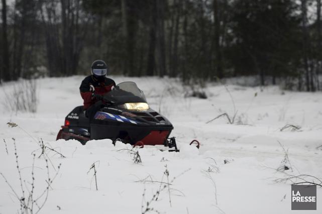 Au Québec, chaque motoneige court trois fois plus... (Archives La Presse)