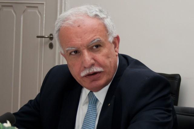 Le ministre palestinien des Affaires étrangères, Ryad al-Malki... (PHOTO JAN HENNOP, AFP)