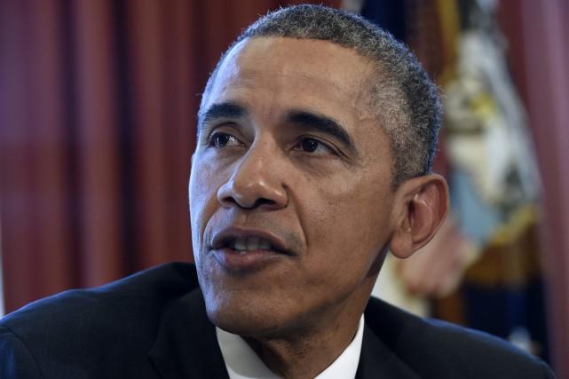Le président américain, Barack Obama... (PHOTO SUSAN WALSH, AP)