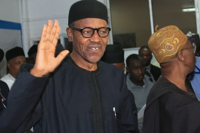 Le nouveau président Muhammadu Buhari serainvesti le 29... (PHOTO AFP)