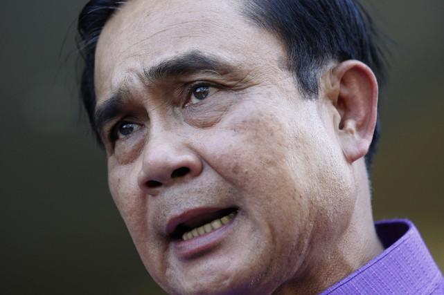 Le chef de la junte militaire, Prayut Chan-O-Cha... (PHOTO SAKCHAI LALIT, AP)