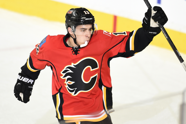 Johnny Gaudreau, des Flames de Calgary, a récolté 16... (Photo Candice Ward, USA Today)