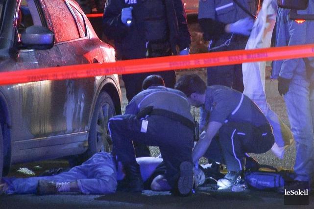 La fusillade a eu lieu dans le stationnement... (Photothèque Le Soleil)