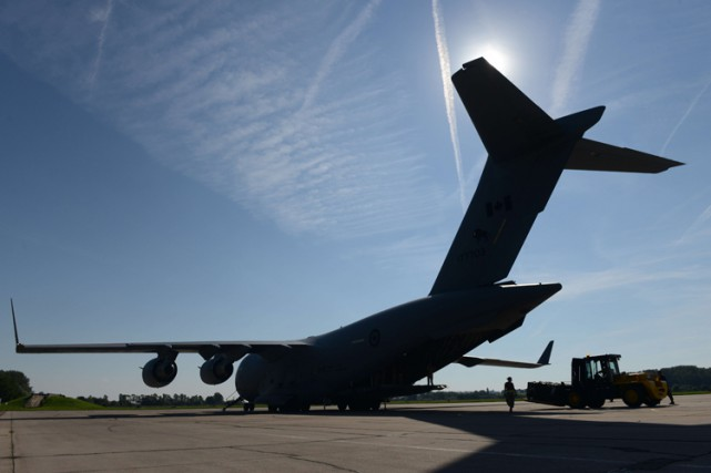 Un avion canadien Globemaster C-17, qui sert au... (Archives AFP)