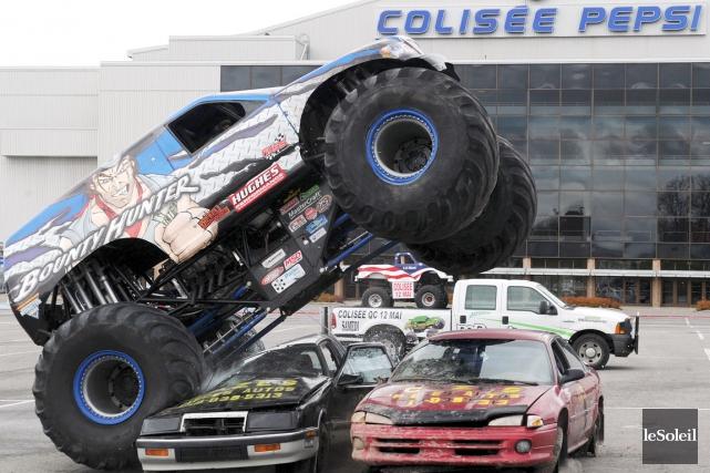 Les gros camions du Monster Spectacular seront les... (Photothèque Le Soleil, Erick Labbé)