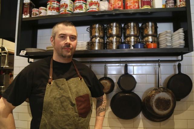 François Côté, chef et copropriétaire du restaurant L'Impérial... (photo Janick Marois)