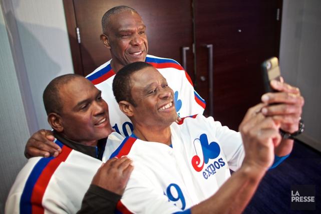 Tim Raines, Andre Dawson et Warren Cromartie ont... (Photo André Pichette, La Presse)