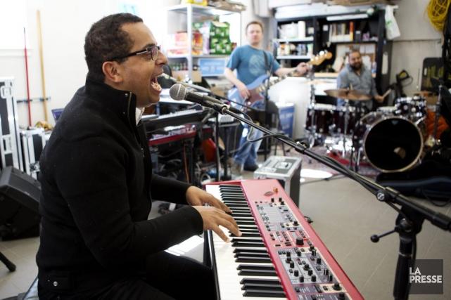 Gregory Charles et ses musiciens, photographiés en pleine... (Photo: Olivier Jean, La Presse)