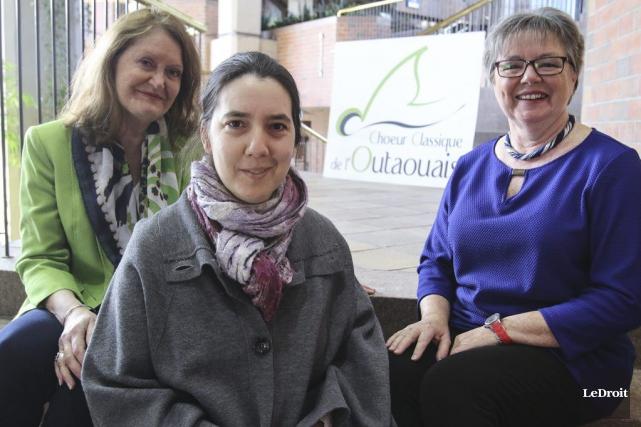 Louise Binette, Tiphaine Legrand et Micheline Beaudry-Somcynsky du... (Patrick Woodbury, LeDroit)
