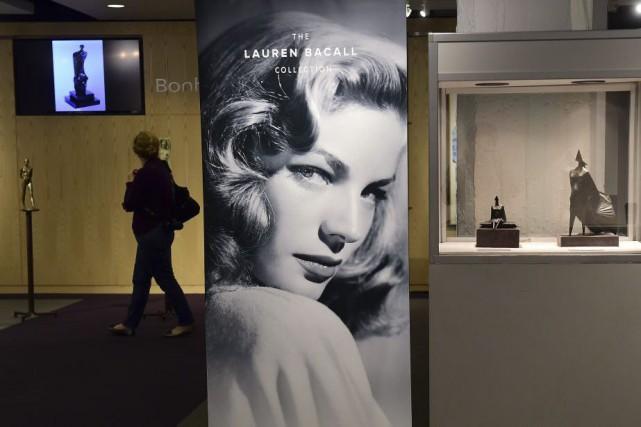 La vente aux enchères de la collection d'objets de l'actrice américaine Lauren... (Photo: AFP)