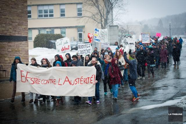 Une marche étudiante contre les mesures d'austérité pourrait perturber la... (Imacom, Jessica Garneau)