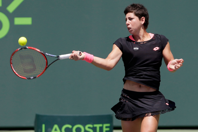 Carla Suarez Navarro... (Photo Alan Diaz, AP)