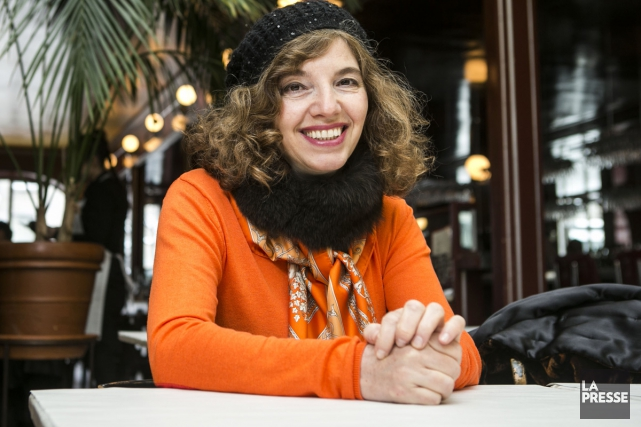 Son neuvième roman est dans la tête d'Elena Botchorichvili. Chut! Il y reste... (Photo: Hugo-Sébastien Aubert, La Presse)