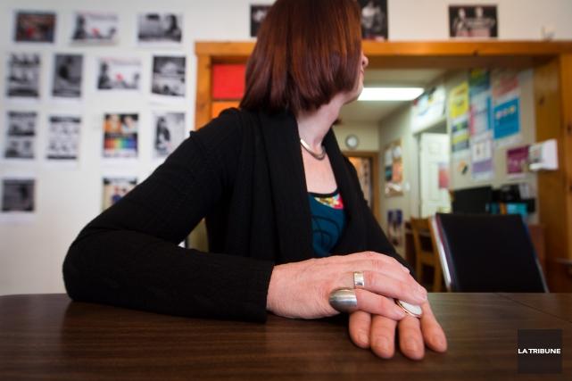 Le journaliste Pierre McCann a rencontré Catherine, qui... (Photo Imacom, Jessica Garneau)