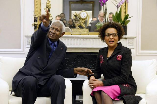 L'ancien secrétaire général de l'OIF, Abdou Diouf, et... (PHOTO BERTRAND GUAY, AFP)