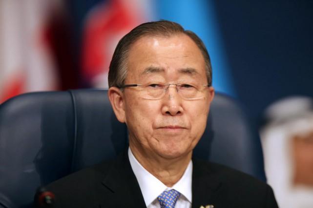 Le secrétaire général de l'ONU, Ban Ki-moon, a... (PHOTO Archives AFP)