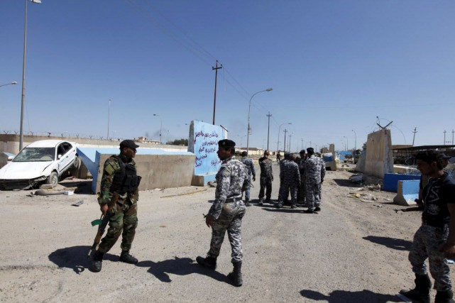 Tikrit, ville natale de Saddam Hussein, a été... (Photo Ahmed Saad, Reuters)
