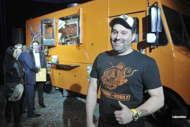 Michael Tremblay, chef-propriétaire du restaurant Temaki Sushi Bar... ((Photo Le Quotidien-Rocket Lavoie))