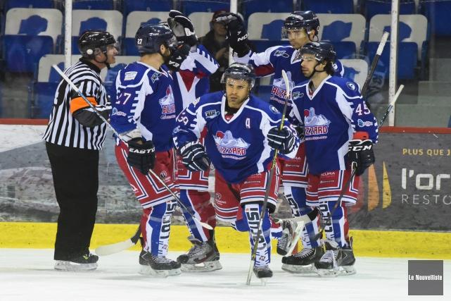 Yann Joseph et ses coéquipiers du Blizzard ont... (Photo: François Gervais Le Nouvelliste)