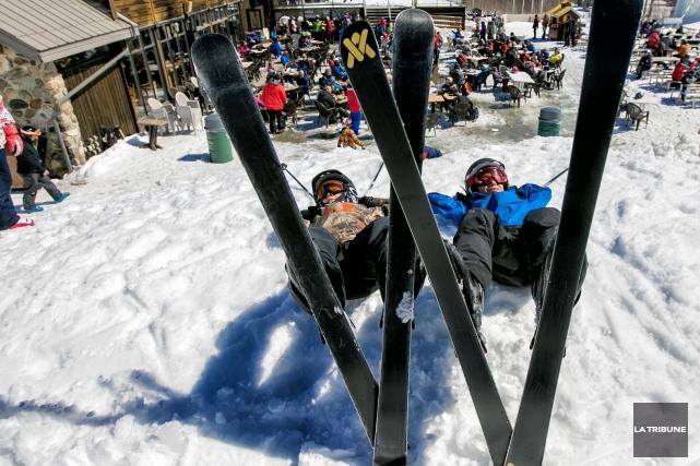 À l'exception du mont Bellevue, les stations de ski de la région ont toutes... (Archives La Tribune, Jocelyn Riendeau)