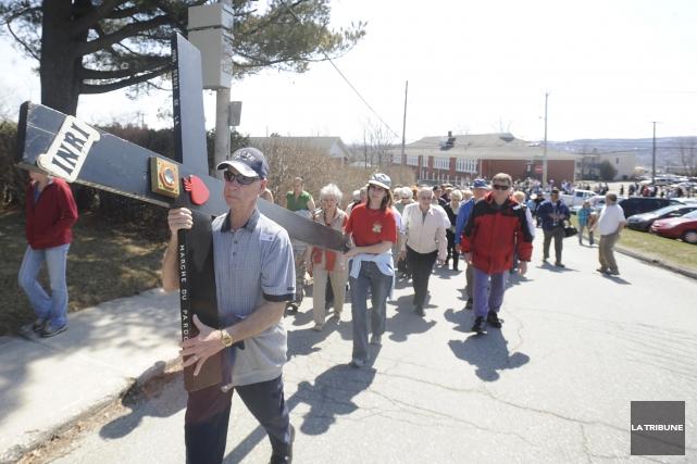 Comme à l'habitude, la Marche du pardon du diocèse de Sherbrooke s'élancera... (Archives La Tribune)